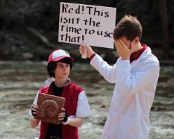 Twitch Plays Pokemon Red Cosplay 5 by ougra