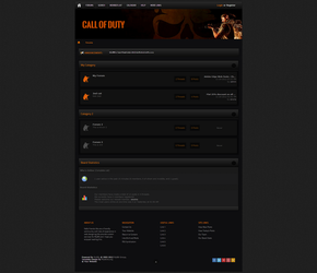 Call Of Duty MyBB Template by enviraphani