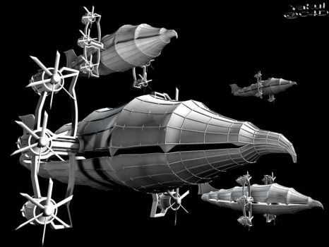Falcon Fleet - WIP by Yakul