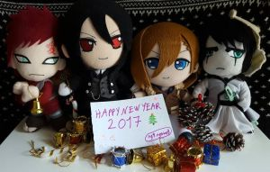 Happy New Year- Anime Plush  by ng9
