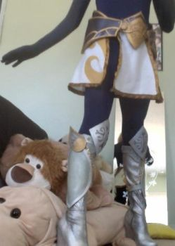 Lux skirt, hip armor, and boots: Test Run! by RikkuGrape