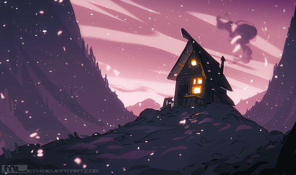 Drawing Prompt - Cozy Place by MLeth