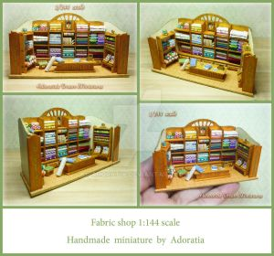 Fabric shop 1:144 scale, micro scale by Adoratia