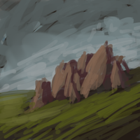 Rocks Sketch by Zalogon