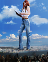 Giantess Bella Thorne's Big Role 4 by dochamps