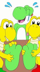 Yoshi Tickled By Koopas by Justinllll