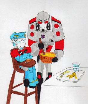 Time For Dinner in Colour by PurrV