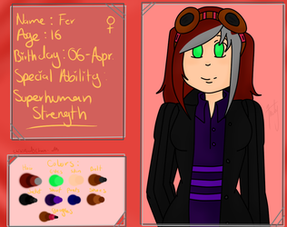 Character Short Profile: Fer by ChibiAndyChan