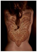 Superimposed tattoo Tiki Mask by Imagink