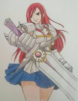 Erza Scarlet,Fairy Tail by Bishalema