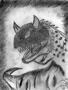Charcoal Carnotaurus  2 by Fire-Blitz