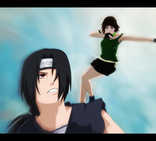 Commission: Itachi vs Lu by NarutoLover6219
