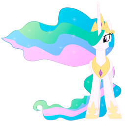 Princess Celestia Happy Front Vector by BlueDragonHans