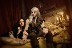 Geralt and Yennefer by Almost-Human-Cosband