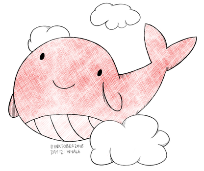 Inktober 2018 Day 12: Whale by Dotsarecool