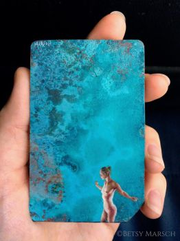 Copper Metrocard Painting 10 by Paintsmudger