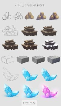 A small study of rocks by DamaiMikaz