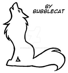 Howling Wolf Tattoo Design by Bubblecat