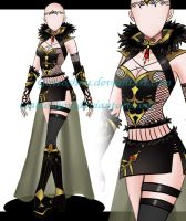 Female Outfit ADOPT 167 [Auction] [CLOSED] by GattoAdopts