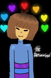 Frisk The Determined by PastelKnifu