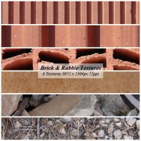 Brick and Rubble Textures by cazcastalla