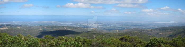 View of Adelaide from Mount Lofty (Zoom In) by Badooleoo