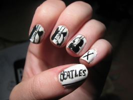 Beatles nails! by WaterLily-Gems