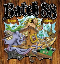 BATCH 88 Beer Poster DETAIL by Huwman