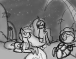 Princess Adventures (Sketch) by FlutterLuv