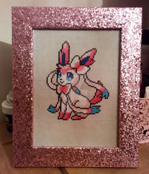 Sylveon Framed Stitch by PoisonIgnorance