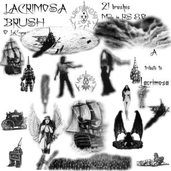 Lacrimosa Brush Set by lacrimosa-fans