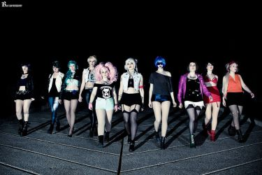 Crystal Tokyo Biker Babes by Red-Ribbon-Cosplay