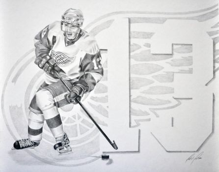 Pavel Datsyuk by wycoffsart