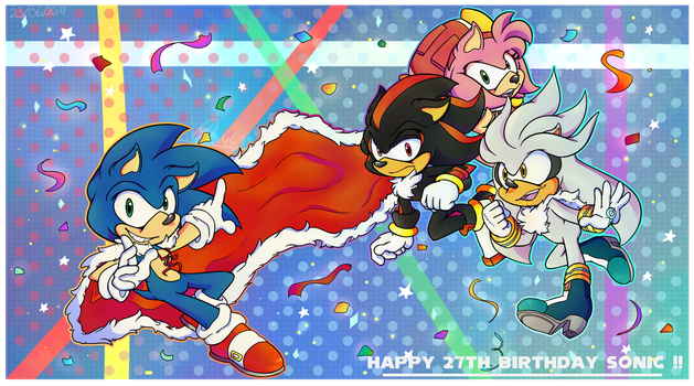 Happy 27th Birthday Sonic ! by Vickie4423