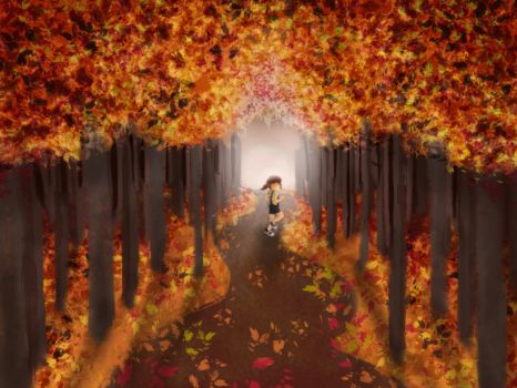 The Girl in the Woods by Digitally-Lovely