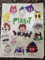 Planet Dolan Charaters by SanjixxZoro