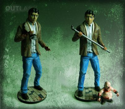 Outlast: Miles Upshur Statue by LuckyKrusky