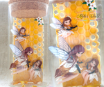 Fantasy beehive bottle made out of polymer clay by Akiko-s-World