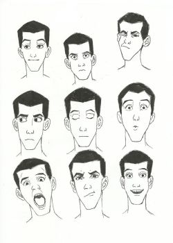 Inktober 2017 Day 17: Facial Expressions by small-light
