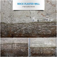Brick plaster wall by raduluchian