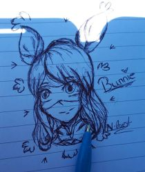Bunnie Head Doodle by NatalieGuest