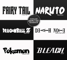 Anime Fonts by Nuuii