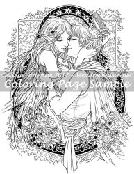Art of Meadowhaven Coloring Page: Got Your Crown by Saimain