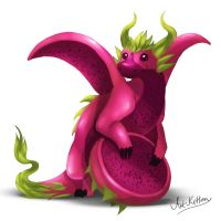 creature doodle #15 red pitaya dragon by ArtKitt-Creations