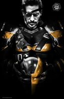 Deathstroke Joe Manganiello Portrait by Bryanzap