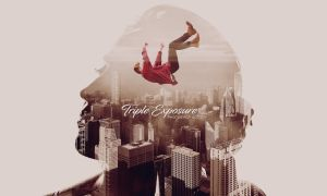 Triple Exposure Photoshop Action And Template by hemalaya