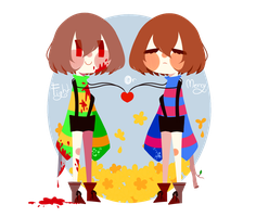 Chara and Frisk by Theprince1224