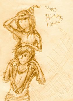 Happy (Late) Bday Aistecool by nohorns11