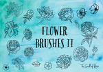 Hand-drawn Flower Brushes - The Smell of Roses by thesmellofroses