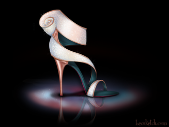 Giselle Inspired Shoe - Disney Sole by becsketch